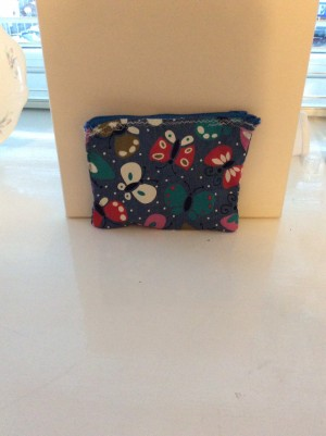 Homemade makeup bag without the lining inside