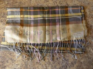 'Pierre Cardin' Brown Checked Scarf