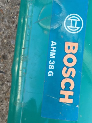 Bosch push along lawn mower