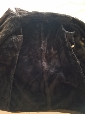 M&S sheepskin coat. Chest size 38 inch. Above the knee.