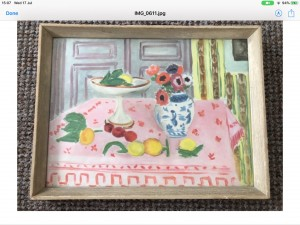The pink table cloth signed henri Matisse W39cm H29cm print 1925
