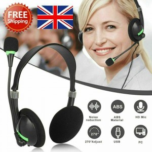 NEW Headphones with Microphone USB Noise Cancelling
