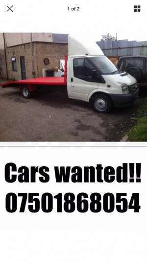 Scrap cars and vans wanted !!