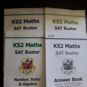 SATs Maths book set of 3 + 1 Answer booklet