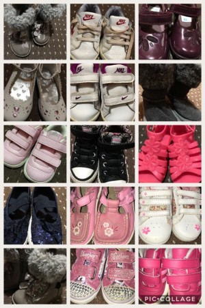 Girls shoes - each are pairs. Sold separate or together