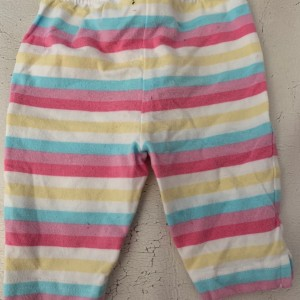 Baby girls multicoloured matalan striped trousers size 3-6 months