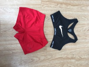 Nike pro sport bra and Gilbert shorts bundle