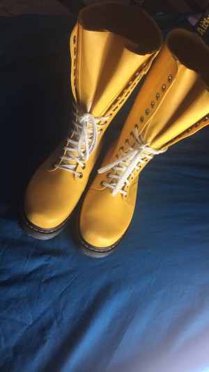 £90 yellow Dr Martens