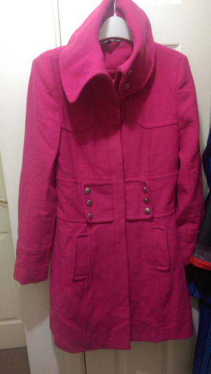 ladies cerise pink coat red herring