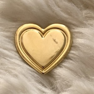 The Variety Club Gold Heart Swag Style Badges Funky Pin Brooch Metal E