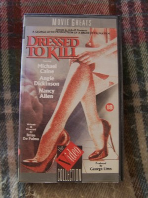 VHS Tape Dressed to Kill