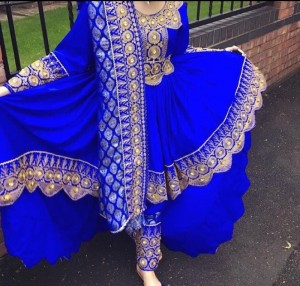 royal blue Afghani dress