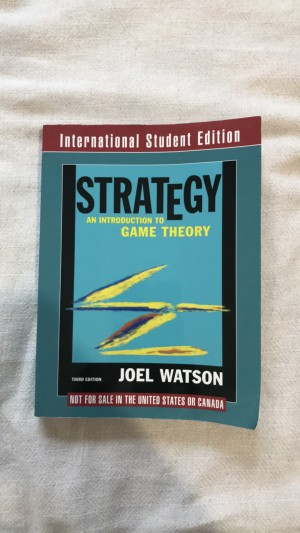 Strategy - an introduction to game theory