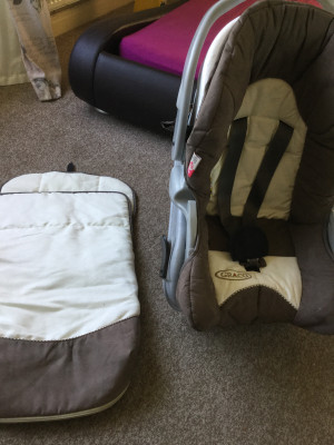Car seat and carrier with snug