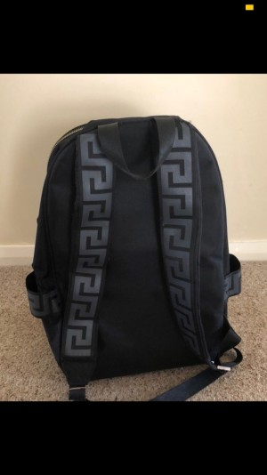 Black Versace backpack