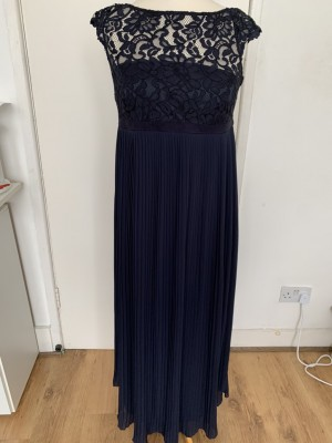 H&M Navy Pleated Dress Size S