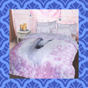 Pretty Unicorn Reversible Lilac Duvet Set