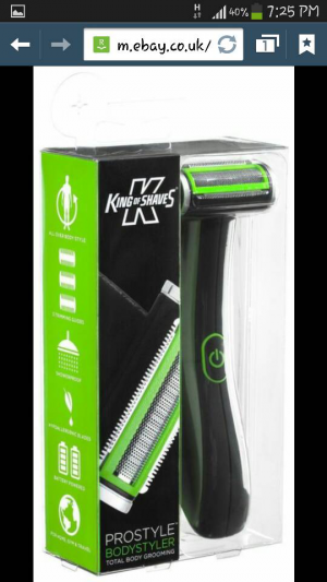 king of shaves body hair trimmer shave battery