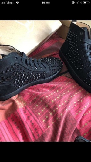 Uk 11 Christian Louboutin Louis Calf/Spikes