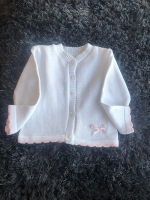 Baby girls white cardigan