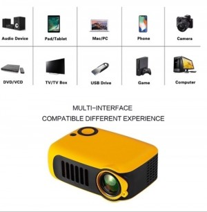 Projector Bundle - Projector, Projector Screen and LED Lights 40M