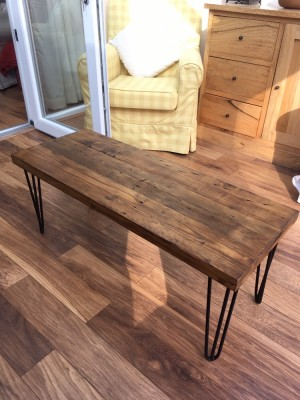 Reclaim timber coffee table with hair pin legs