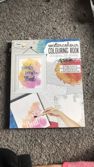 Watercolour colouring book