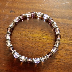Lavender Colours Crystal Cuff Bangle New