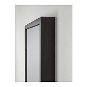 Full length Mirror in dark solid wood. In great condition