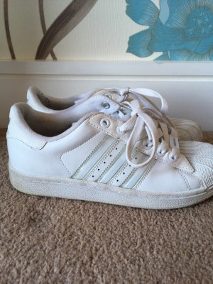 Adidas White trainers Size 4