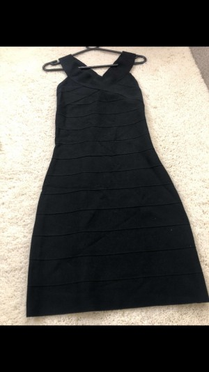 Reiss black bandage dress