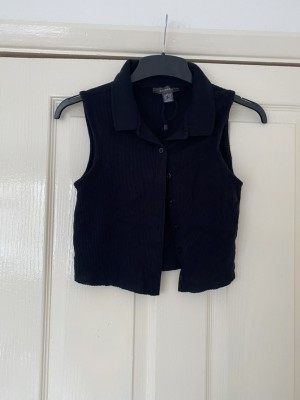 Primark ribbed crop top sleeveless size small