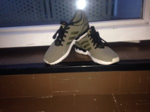 Olive Ankle protected ZX Fluxes fresh only worn once