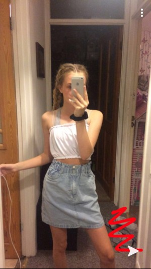 blue denim skirt from new look. size 6 worn once. bought it for £20