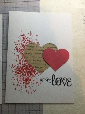 Red Love Heart Card