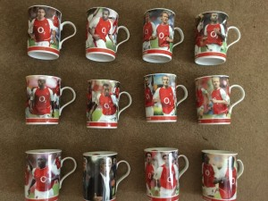 SET OF 12 PORCELAIN ARSENAL MUGS