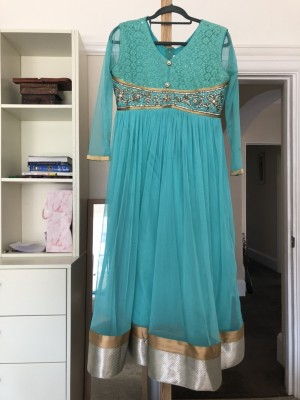 Turquoise Asian dress
