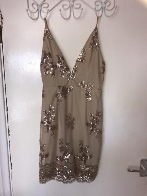 In The Style Gold Dress size 6