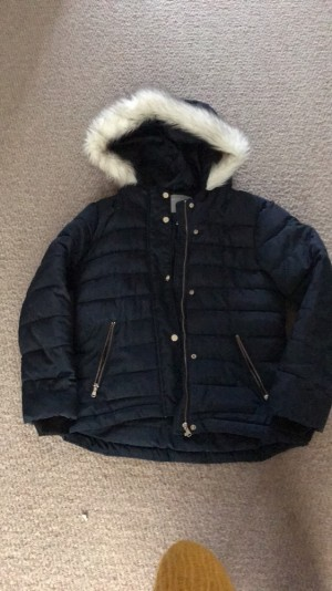 Dorothy Perkins navy blue puffer coat! Waterproof great for winter, good condition!
