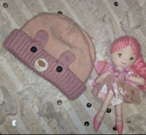Monsoon teddy hat 1-3yrs
