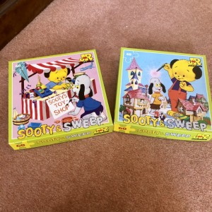 Set Of 2 Vintage Sooty And Sweep Retro 1988 60 Pieces Junior Jigsaw Pu