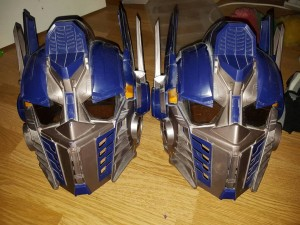 Hasbro Transformers Optimus Prime voice changing helmets