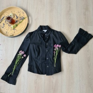 black formal jacket