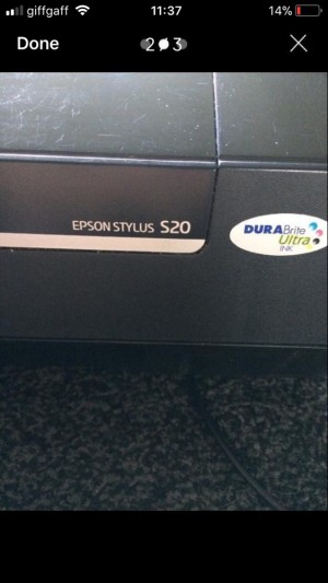 Epson Stylus S20 Printer *With Ink*