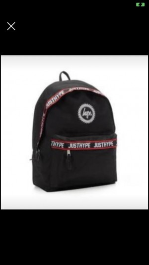 Black Hype Backpack Used Once