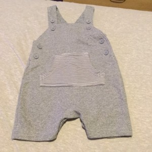 Baby Boys Navy Striped Dungarees - Aged 0-3 Months