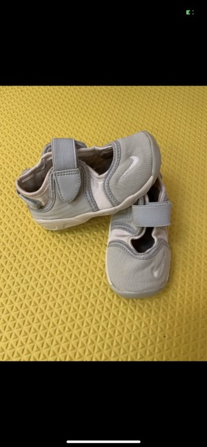 Light grey and white Nike rifts 5.5 infant