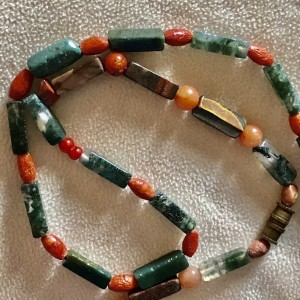 Vintage Colourful Natural Stone Necklace