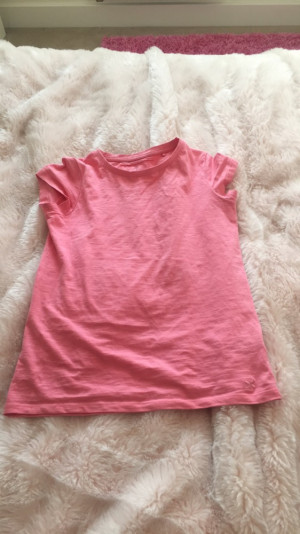 Salmon pink plain top from next. 10 years.£1.50