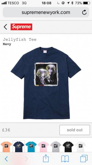 SUPREME JELLYFISH NAVY TEE